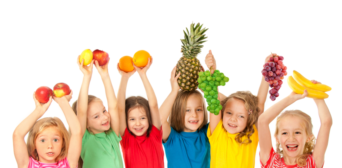 Kids With Fruits
